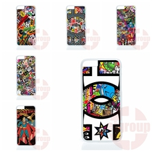 DC Sticker Bomb For Apple iPhone 4 4S 5 5C SE 6 6S 7 Plus 4.7 5.5 iPod Touch 4 5 6 Custom Phone