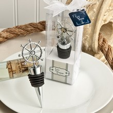 FREE SHIPPING by DHL,FEDEX,UPS(50pcs/Lot)+Ocean Themed Silver Ship Wheel Design Wine Stoppers Beach Wedding&Bridal Shower Favors