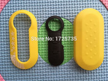 1pcs of New colorful plastic key case with star for Fiat 500 Panda Punto Bravo key cover add 3 Button remote Rubber Pad