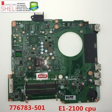 "776783-501 for HP 15-F 15-f009wm 15.6"" Motherboard for AMD E1-2100 DA0U93MB6D0 REV:D working perfectly SHELI stock No.110(China)"