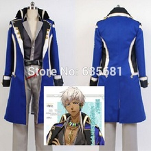 Cos Kamigami no Asobi Thoth Caduceus Cosplay Costume Long School Uniform Boy Students Clothing Set Blue New Arrival