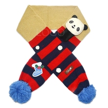 New Arrival Cute Children Scarf with Panda Pattern Special  Designed Wraps for Christmas