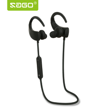 Whosale price Sago S3 Bluetooth Earphone Sports Earpiece Sweatproof Ear-phone Wireless Control Earbuds for Iphone/Android phone(China)