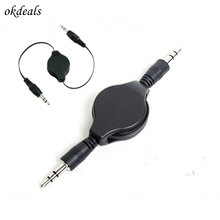Pretty 3.5mm Male to Male Stereo Jack Audio Aux Auxiliary Cable Perfect For Travel Retractable Extension Cord for MP3 players(China)