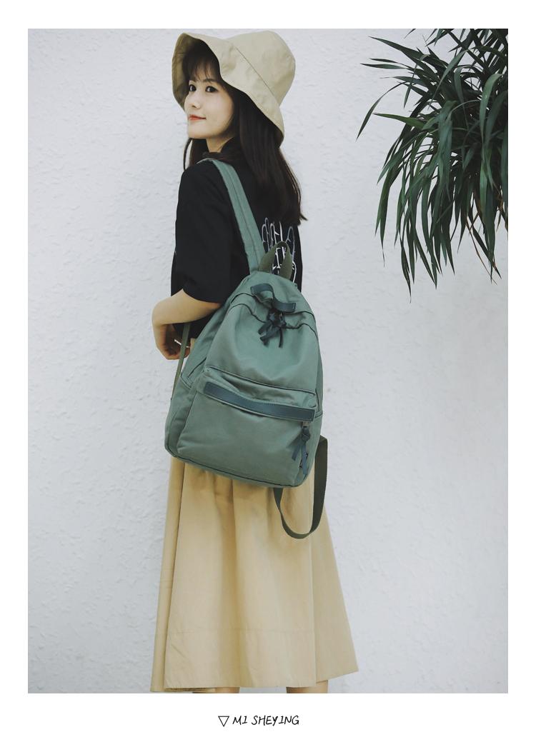 Menghuo High Quality Women Canvas Backpack Teenage Girls Leisure Backpack Bag Vintage Stylish Female School Bag Bookbag Mochilas (8)