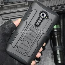 Protective Armor Impact Hard Case Cover Holster Stand Belt Clip For VERIZON LG G2 VS980