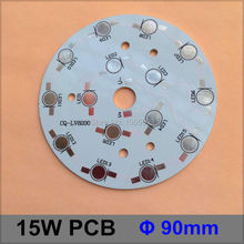 10 Pcs/lot LED Aluminum Base 90mm 15W Round Diameter LED High Power Heat sink PCB Plate Circuit Base For 15W LED Lamp Board(China)