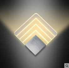 10W LED Aluminium wall light rail project Square LED wall lamp bedside room bedroom wall lamps arts
