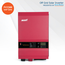 MUST POWER PV3500 12kW Low Frequency Pure Sine Wave Off Grid Solar Power Inverter with Built-in MPPT Charge Controller