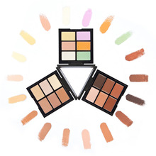 6 Colors Professional Contour Palette Contouring Makeup Corrector Base Foundation Face Care Cream Concealer Palette Cosmetic