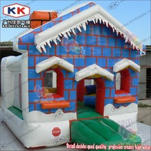 Special Price inflatable santas grotto bouncer,inflatable christmas bounce house(China)