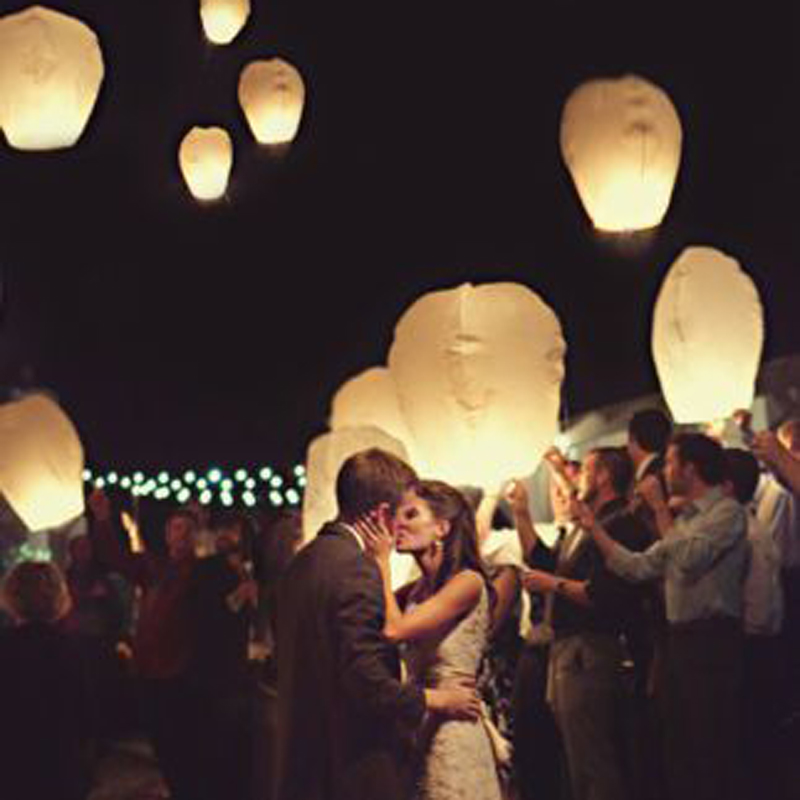wedding decoration 5pcs/lot Chinese kongming lanterns,Christmas SKY Balloon wishing Lanterns Flying Light Halloween Lights(China)