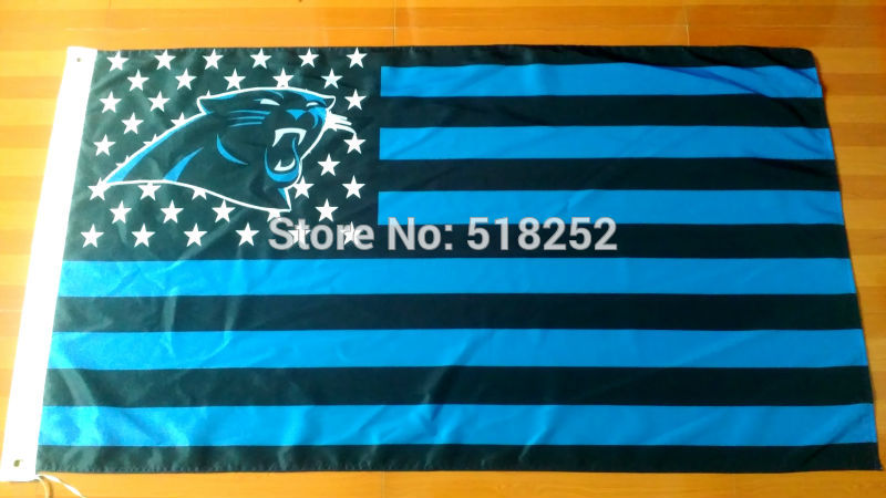 NFL Carolina Panthers US Stripe Flag 3x5 FT 150X90CM Banner 100D Polyester flag 1001, free shipping(China (Mainland))