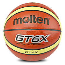 Official Size And Weight Women Molten GT6X Basketball Ball PU Leather Basket Basketball Ball Free Gifts With Net Needle Pin(China)