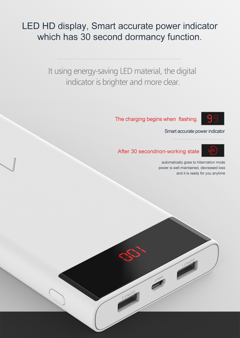 ARUNJ120 Li-polymer Battery PowerBank12000mAh LED Lights External Battery 2 USB LCD Power Bank Portable Charger (3)
