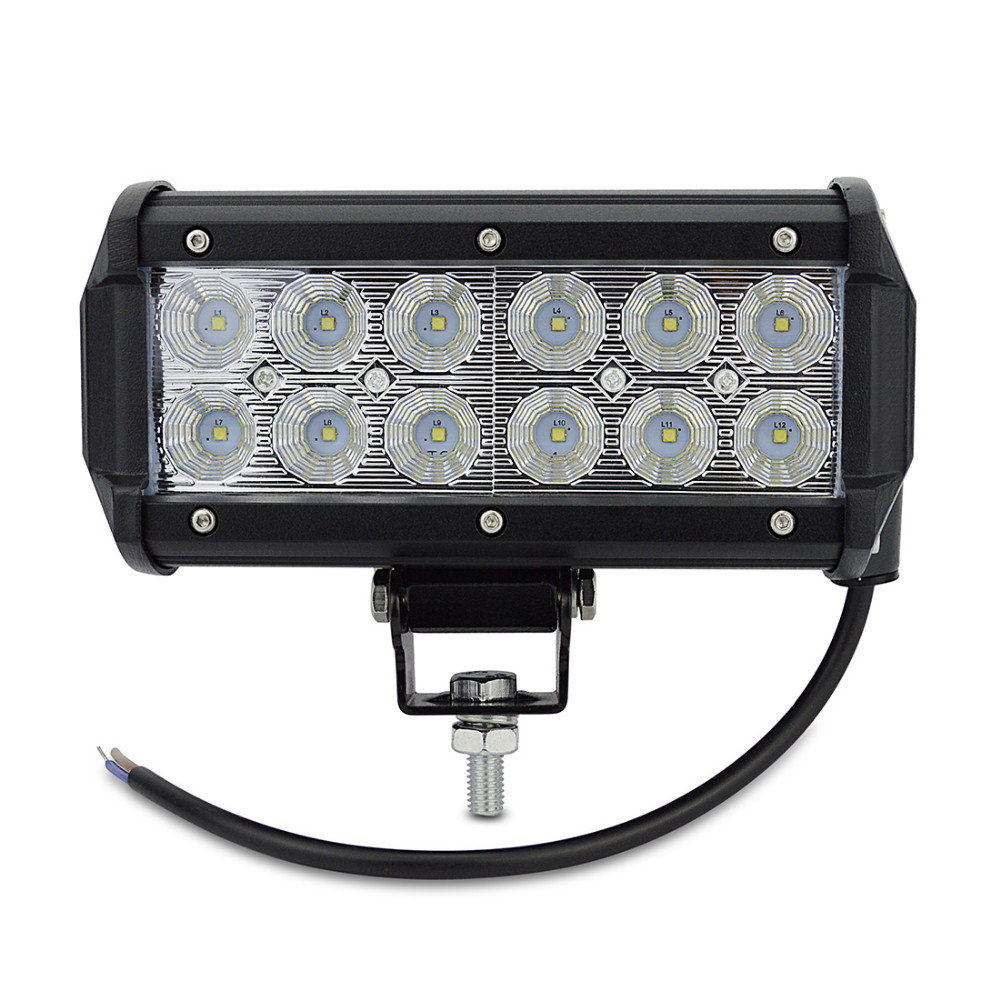 7 inch 36W Cree chip LED Work Light Lamp for Motorcycle Tractor Boat Off Road 4WD 4x4 Truck SUV ATV Spot Flood 12v 24v<br><br>Aliexpress