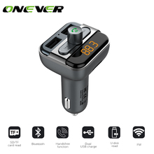 1Pcs Bluetooth Car Kit Music Player FM Transmitter Handfree Modulator With 3.4A Dual USB Charger TF Slot 12-24V For All Phone(China)