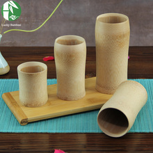 Natural bamboo tea cup Japanese style classic wooden beer milk cups eco-friendly vintage crafts for home decoration wholesale(China)