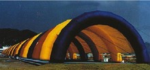 Popular custom Giant Inflatable colorful model tents /wedding Tent/ Inflatable Camping Tent For Camping 75 squre meters