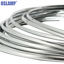 Oslamp 6mm 3Meters Car Chrome Silver Moulding Strip Ddecoration Adhesive Bumper Grille Impact Protecting Trim(China)