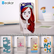 Painted Pattern Soft TPU Silicon 4.0for iPhone 5s Case For Apple iPhone 5s iPhone5s Cell Phone Back Cover Case