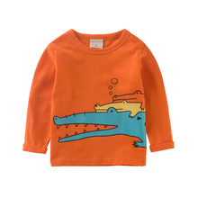 BINIDUCKLING Autumn Baby Boys T shirt Children Clothing Clothes BoysTops crocodile printed Kids T-shirts for Boy Sweatshirt(China)