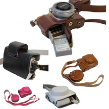 New Luxury Vintage PU Leather Camera Case Bag Cover For Olympus EPL8 EPL-8 With Strap Open Battery Design Camera Bag