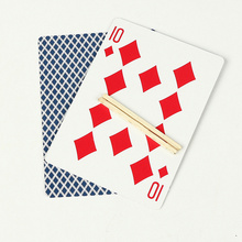 New Toothpick Match On Card Street Bar Trick Close-Up Magic Incredible Floating Card #10