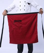50pcs Universal Unisex Kitchen Cooking hotel chef aprons chef uniforms Waist Apron Short Apron Waiter Apron with Double Pockets