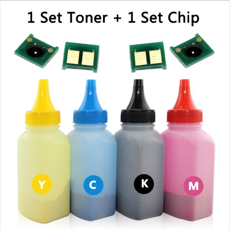40g/bottle color toner powder+a set of chip for hp CF350 BK CF351 C CF352 M CF3503 Y(130) for HP laser jet Pro MFP M176n/M177fw(China (Mainland))