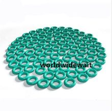 50Pcs Green Color Fluorine Rubber O Ring Grommets 4/5/6/7/8/9/10mm OD x 1.5mm(China)