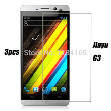 3pcs in one package Front Transparent Screen Guard Protectors for Jiayu G3 Film Quality(China)