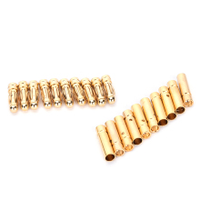 10 Pairs New 3mm Male Female Gold Bullet Banana Connector Plug For RC Battery Motor Part Accessories On Sale(China)
