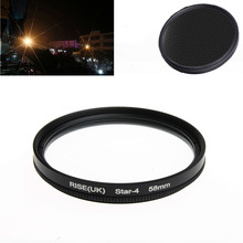 new arrive 58MM 4 Point Star Filter  for Canon EF 18-55mm 50mm 85mm Camera Lens free shipping