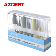 AZDENT Dental Resin Base Hidden Denture Polishing Kits As Seen Tv Products HP0412 Used for Low-Speed Bur Bistrique