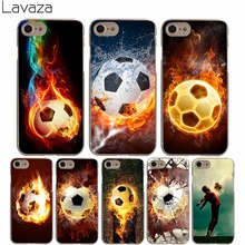 Lavaza Fire Football Soccer Ball Hard Transparent Cover Case for iPhone X 10 8 7 6 6S Plus 5 5S SE 5C 4 4S(China)