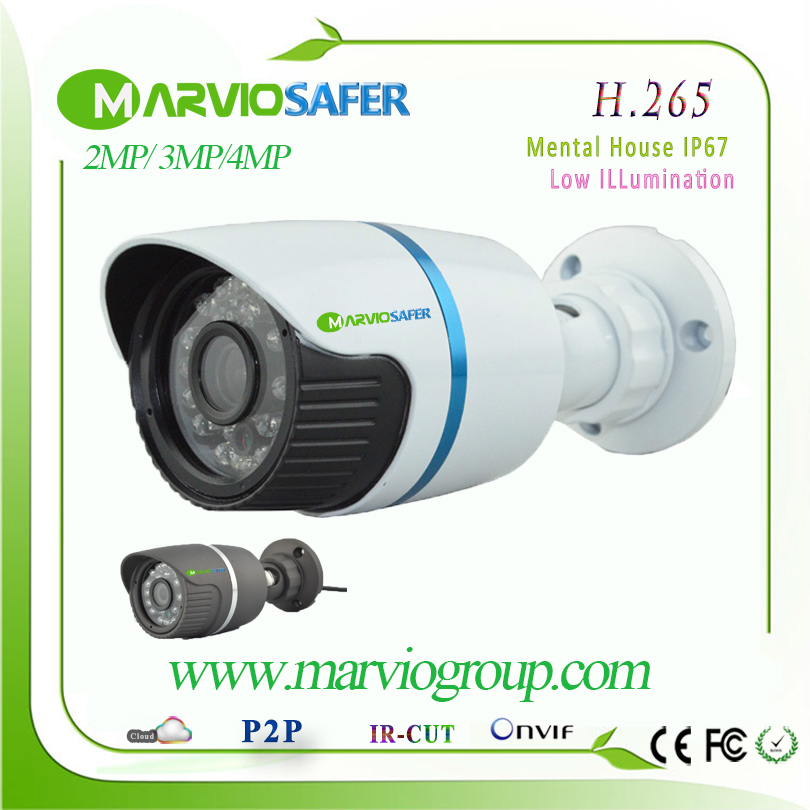 New H.265 2MP/4MP Real-time Full HD 1080P Bullet Outdoor Weatherproof IP Network Camara CCTV Video Camera Security Cam Onvif<br>