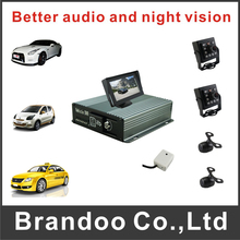 H.264 4 Channel Car Vehicle DVR Video Recorder Kit Inclduing Car Camera For Taxi Bus Mobile(China)