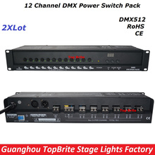 2XLot Big Discount High Quality 12 Channel DMX Power Switch Pack Dj Disco Stage Laser Light Equipments For Free Shipping 88-256V
