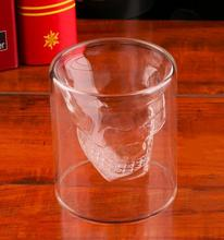 25ml Fashion Skull Head Shot Glass Fun Creative Designer Crystal Party Wine Cup For Wedding Christmas Party Decoration Gift