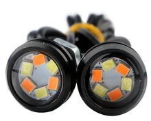 4pcs Eagle Eye Lights 6SMD Car LED Motor DRL Turn Signal Lamps Headlight  Backup Light Car Auto Lamp Dual color 12v DIY Style