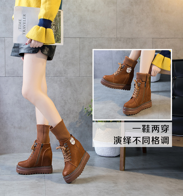 f50c07927ee4 SWYIVY Genuine Leather Boots Woman Autumn Winter 2018 Plus Fur Warm  Snowboots Retro High Top Casual Shoes Shell Warm Snow Boots US 45.85   pair   lot 1