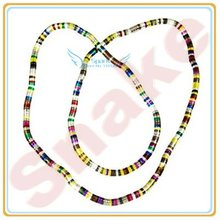 33.87' Multiple Use Flexible Round Snake Necklace Multicolor Bendy Snake Chain Necklace Snake Jewelry