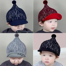 Fashion Baby Baseball Hats with Knitting Wool Ball Kids Lovely Hats Caps Newborn Infant Girl Boy Sunshade Hat Leisure Peaked Cap(China)