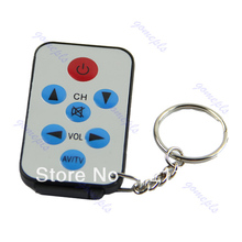 2017 New Arrival Mini Universal Infrared IR TV Set Remote Control Keychain Key Ring 7 Keys Silver