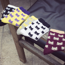Winter Autumn New Women In Tube Sock Cartoon CAT Women Socks Fashion Cotton EUR35-40(China)