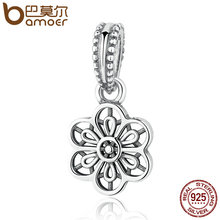 Buy Authentic 925 Sterling Silver FLORAL DAISY LACE PENDANT CHARM Fit Bracelet Necklace Women Fashion Jewelry PAS296 for $7.15 in AliExpress store