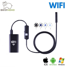 HD USB Endoscope Android IOS Windows 720P 8mm Lens 2.0M Snake Tube Camera Wifi Wireless Car Endoscope Flexible Camera Waterproof