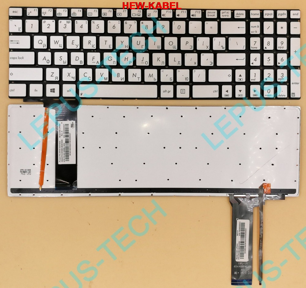 for Asus N76 N76vm WIN8 UI US Layout Backlit with silver C shell Laptop keyboard