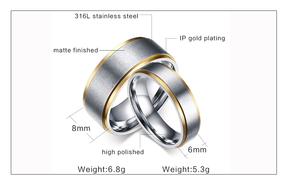 Meaeguet Classic Couple Wedding Rings For Men Women Titanium Steel Lover's Engagement Wedding Bands Alianca De Casamento (1)